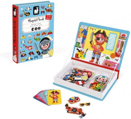 Carte magnetică - Hainuțe pentru băieți - Janod J027190