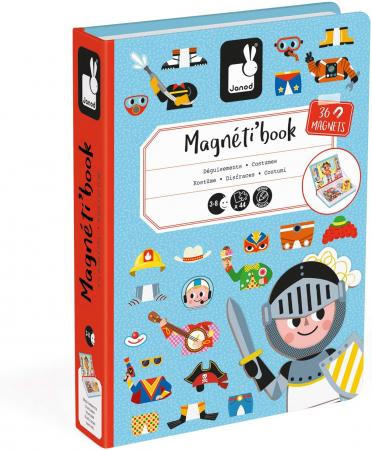 Carte magnetică - Hainuțe pentru băieți - Janod J027191