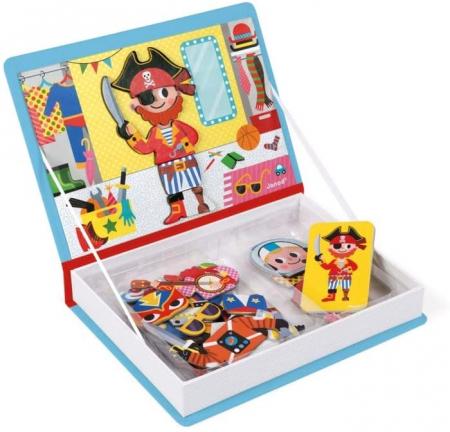 Carte magnetică - Hainuțe pentru băieți - Janod J027195