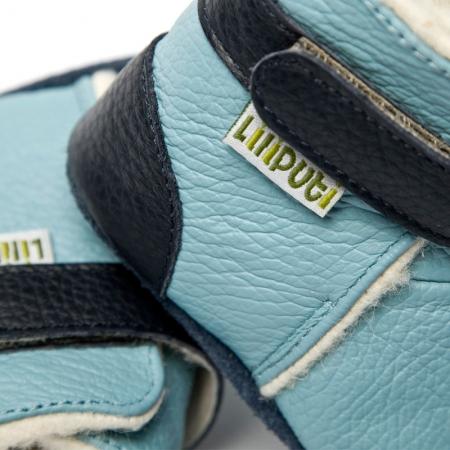 Cizme cu talpă moale Liliputi® - Eskimo Blue [1]