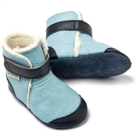 Cizme cu talpă moale Liliputi® - Eskimo Blue