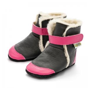 Cizme cu talpă moale Liliputi® - Eskimo Black1