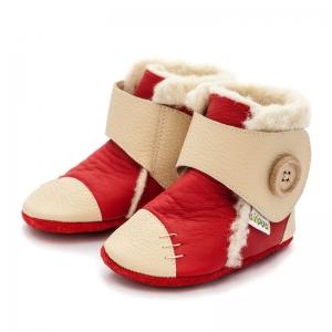 Cizme cu talpă moale Liliputi® - Snowflake Red1