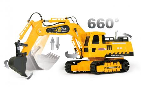 Excavator cu telecomandă J-Matic 1:27, Jamara 4049204