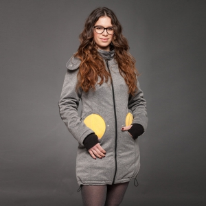 Geacă pentru mămici 4in1 Liliputi® - Grey-Yellow1