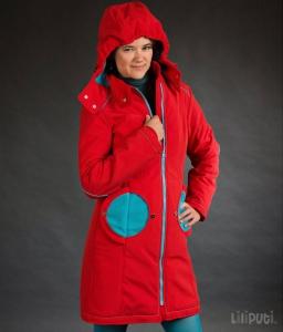 Geacă pentru mămici Liliputi® - Red-turquoise