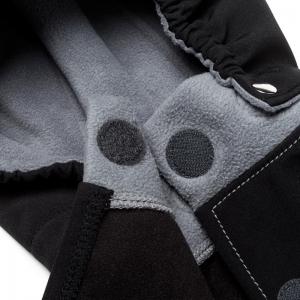 Glugă și fular de încălzire a gâtului pentru bebeluși Liliputi® - Black-grey1