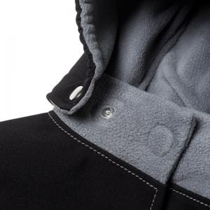 Glugă și fular de încălzire a gâtului pentru bebeluși Liliputi® - Black-grey2