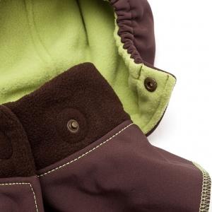Glugă și fular de încălzire a gâtului pentru bebeluși Liliputi® - Brown-green