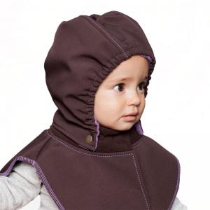 Glugă și fular de încălzire a gâtului pentru bebeluși Liliputi® - Black-grey3