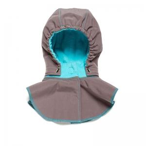 Glugă și fular de încălzire a gâtului pentru bebeluși Liliputi® - Grey-turquoise0
