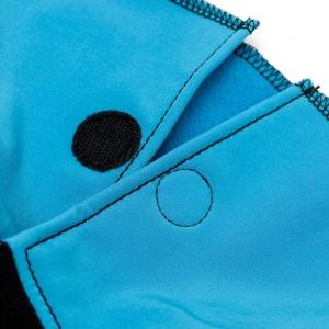 Glugă și fular de încălzire a gâtului pentru bebeluși Liliputi® - Turquoise-black2