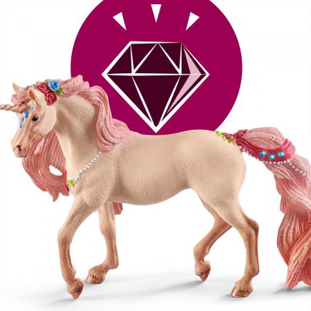 Iapa unicorn decorat - Figurina Schleich 705735