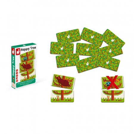Joc de memorie - Copăcelul veseliei - 30 de piese, Janod J027613