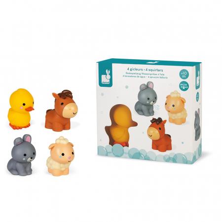 Jucării de baie - Animale de fermă - 4 de piese, Janod J047023