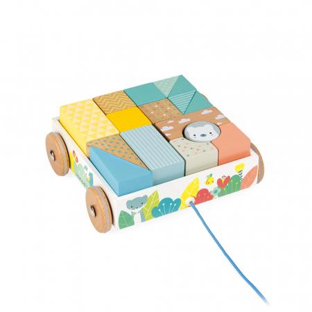 Jucărie de tras și cuburi (lemn) - Janod J051525