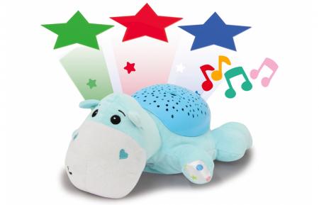 Lampă de veghe muzicală cu proiecție stelară - Dreamy Hippo, Jamara 4604300