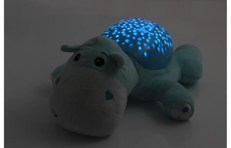 Lampă de veghe muzicală cu proiecție stelară - Dreamy Hippo, Jamara 4604305
