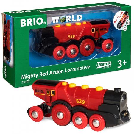 Locomotivă roșie puternică, Brio 335923