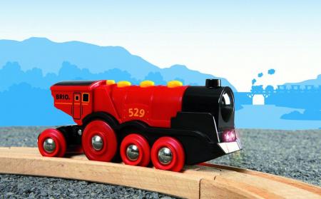 Locomotivă roșie puternică, Brio 335924