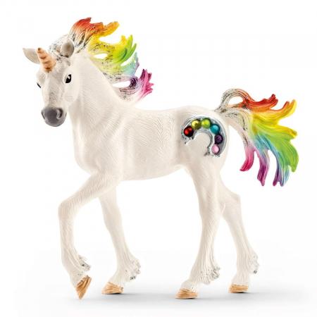 Manz unicorn curcubeu cu strasuri - Figurina Schleich 705250
