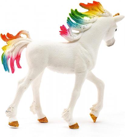 Manz unicorn curcubeu cu strasuri - Figurina Schleich 705253
