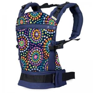 Marsupiu ergonomic SSC Liliputi® Rainbow line - Mandala Bloom1
