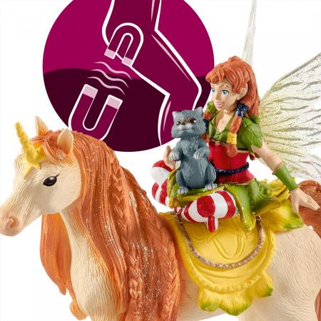 Marween cu un unicorn strălucitor - Figurina Schleich 705675