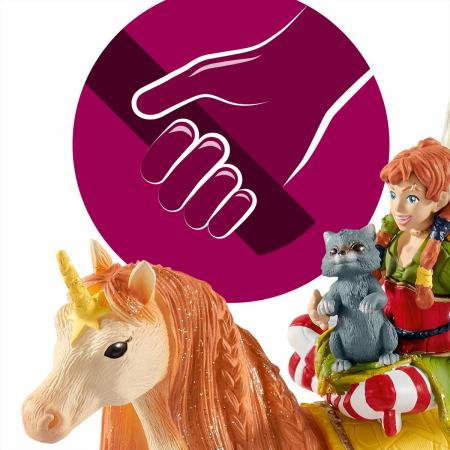 Marween cu un unicorn strălucitor - Figurina Schleich 705677