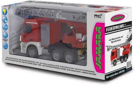 Masină de pompieri cu telecomandă Mercedes Antos cu scara și pompă de apă, Jamara 404960 [9]