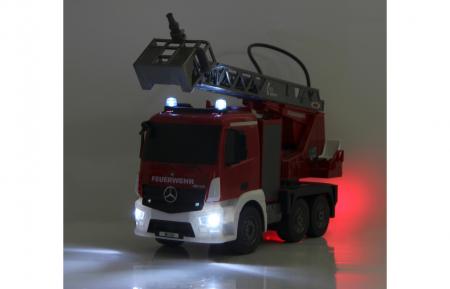 Masină de pompieri cu telecomandă Mercedes Antos cu scara și pompă de apă, Jamara 404960 [7]