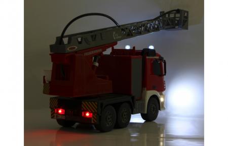 Masină de pompieri cu telecomandă Mercedes Antos cu scara și pompă de apă, Jamara 404960 [8]