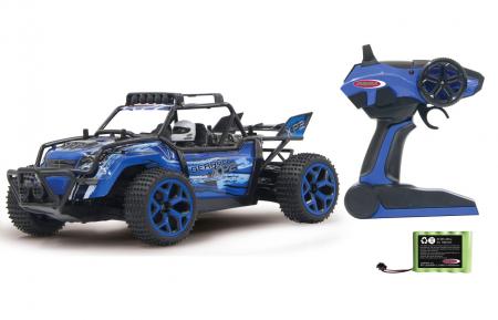 Mașină off-road cu telecomandă Derago XP1 4WD albastru 1:18, Jamara 4100130