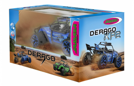Mașină off-road cu telecomandă Derago XP1 4WD albastru 1:18, Jamara 4100131