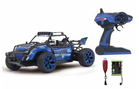 Mașină off-road cu telecomandă Derago XP1 4WD albastru 1:18, Jamara 4100132