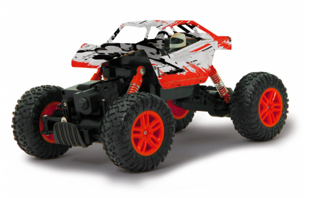 Masină off-road cu telecomandă Hillriser Crawler 4WD portocaliu 1:18, Jamara 4100542