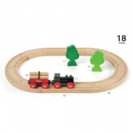 Mini set trenuleț forestier, Brio 330423