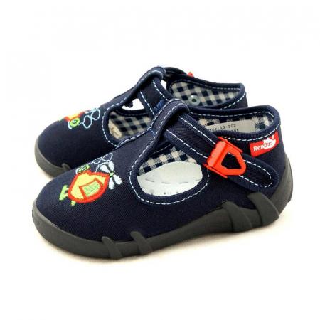 Pantofi baieti cu elicopter brodat (cu catarama), din material textil1