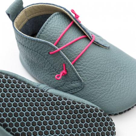 Pantofi cu talpă moale Liliputi cu crampoane antialunecare - Urban Cloud1