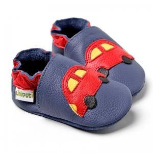 Pantofi cu talpă moale Liliputi® - Blue Cars V82