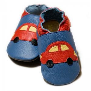Pantofi cu talpă moale Liliputi® - Blue Cars V83