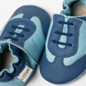 Pantofi cu talpă moale Liliputi® - Blue Sport1