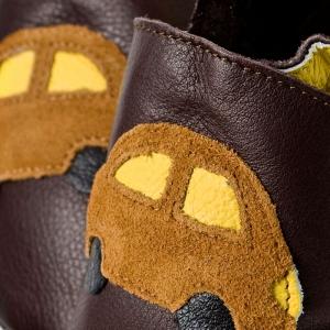 Pantofi cu talpă moale Liliputi® - Brown cars bi-turbo1