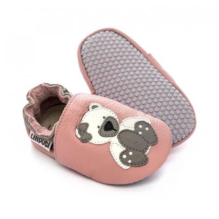Pantofi cu talpă moale Liliputi cu crampoane antialunecare - Polar Teddy [0]