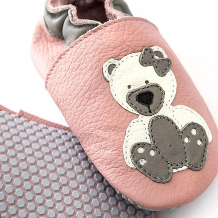 Pantofi cu talpă moale Liliputi cu crampoane antialunecare - Polar Teddy [1]