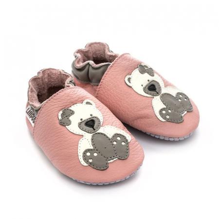 Pantofi cu talpă moale Liliputi cu crampoane antialunecare - Polar Teddy [2]