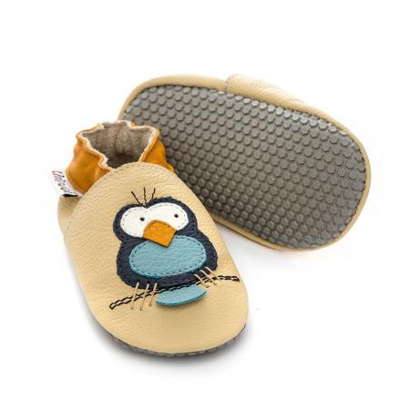 Pantofi cu talpă moale Liliputi cu crampoane antialunecare - Silent Birds [0]