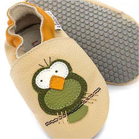 Pantofi cu talpă moale Liliputi cu crampoane antialunecare - Silent Birds [1]