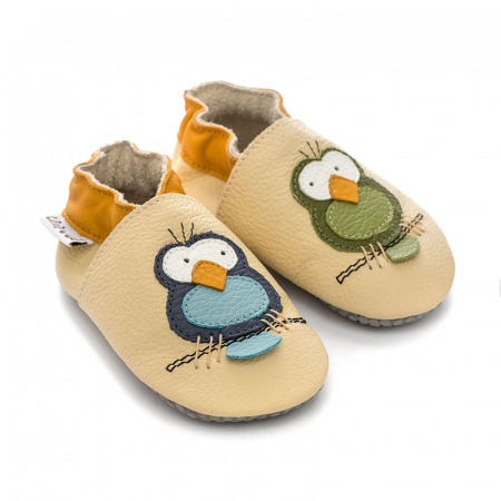 Pantofi cu talpă moale Liliputi cu crampoane antialunecare - Silent Birds [2]
