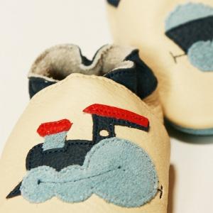 Pantofi cu talpă moale Liliputi® - Express Train White1